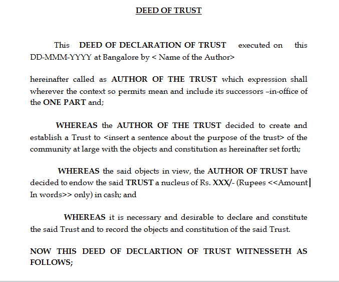 sample deed of trust