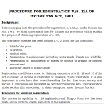 registration under section 12AA of the Income Tax Act
